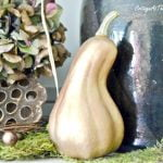 painted plastic gourds and pumpkins