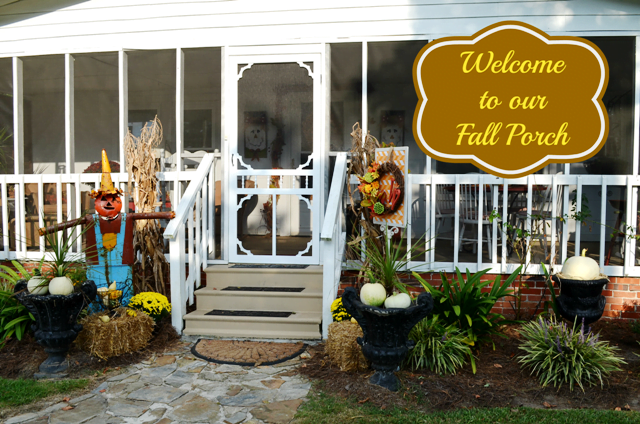 welcome to our fall porch