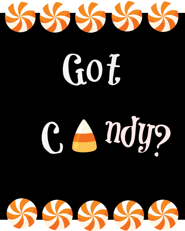Got Candy free printable