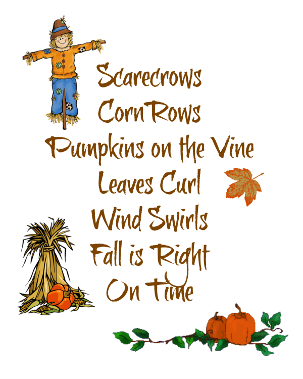 scarecrows free printable