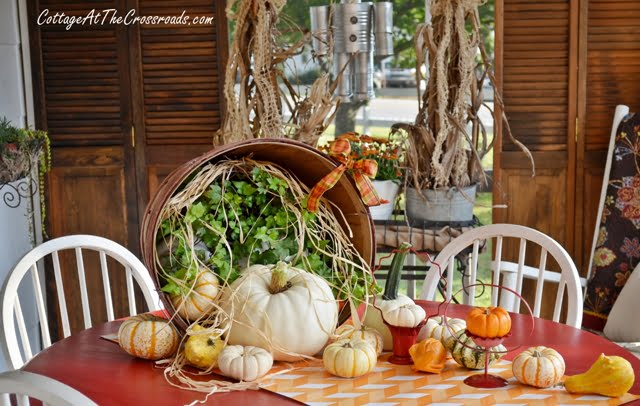 white pumpkins | Cottage at the Crossroads