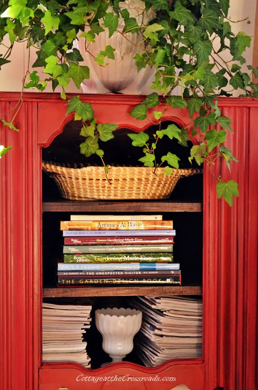 red music cabinet