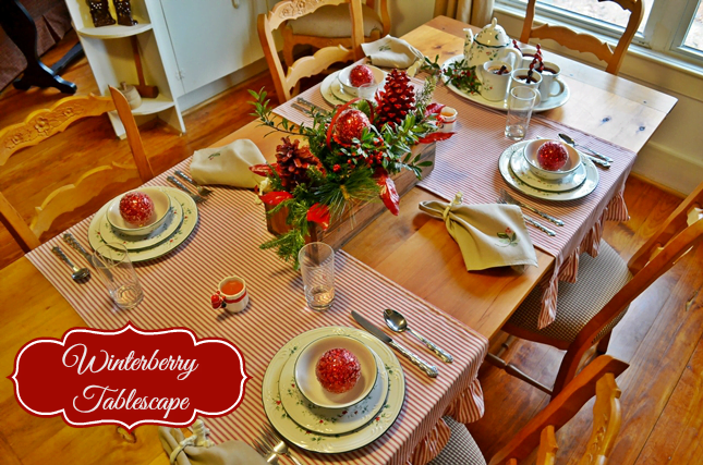 Winterberry Tablescape from Cottage at the Crossroads