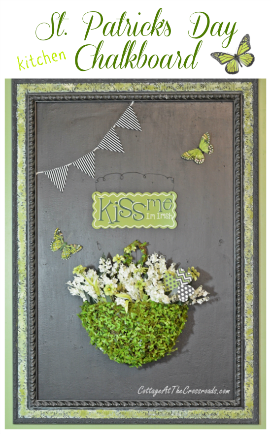 St. Patrick's Day Kitchen Chalkboard | Cottage at the Crossroads