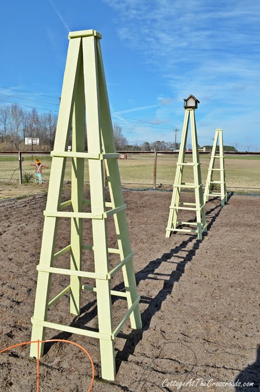 Diy Wooden Garden Obelisk Cottage At The Crossroads
