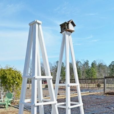 wooden garden obelisks