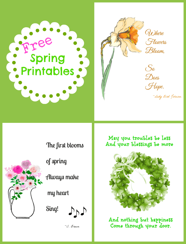 Free Spring Printables | Cottage at the Crossroads