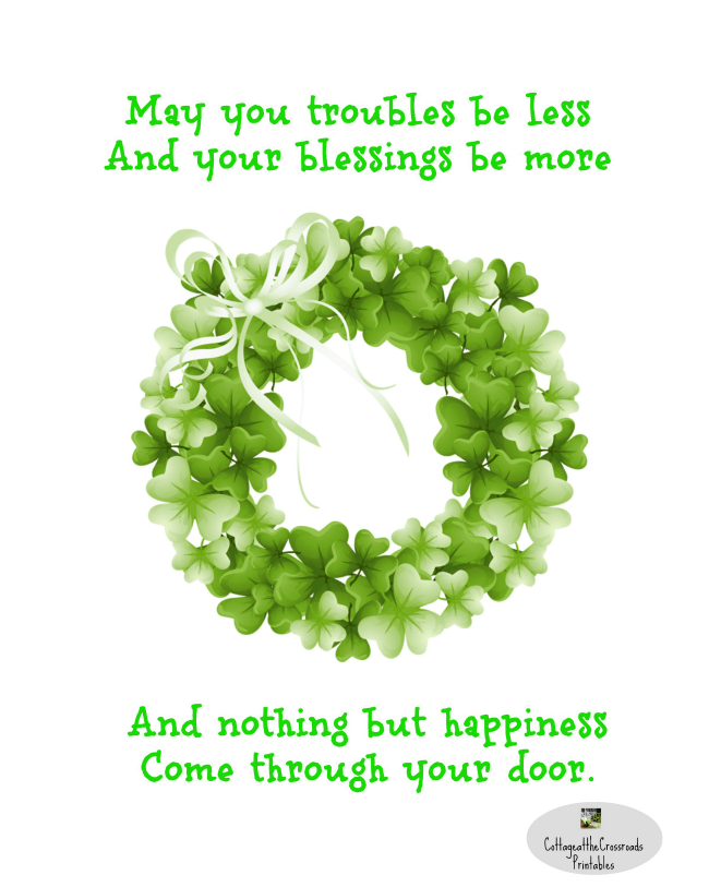 graphic relating to Printable Irish Blessing named March Spring Printables - Cottage at the Crossroads