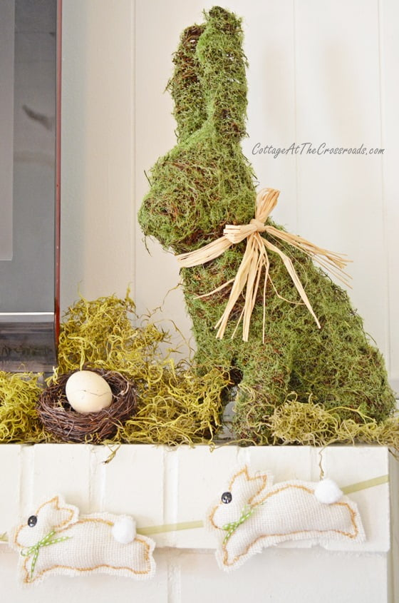 Spring Mantel   Cottage at the Crossroads