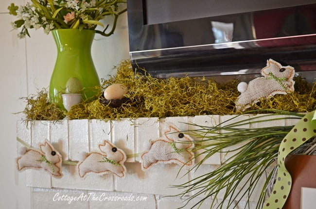 Spring Mantel | Cottage at the Crossroads