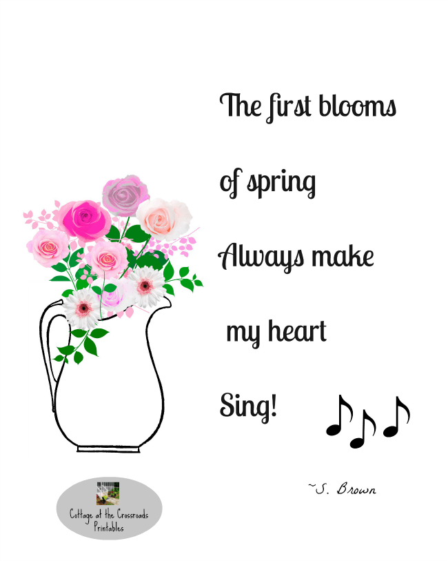 The First Blooms of Spring free printable | Cottage at the Crossroads