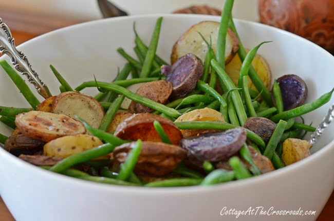 Roasted Potato and Green Bean Salad with Herbed Yogurt | Cottage at the Crossroads