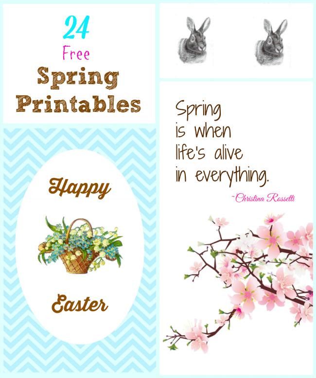 24 Free Spring Printables