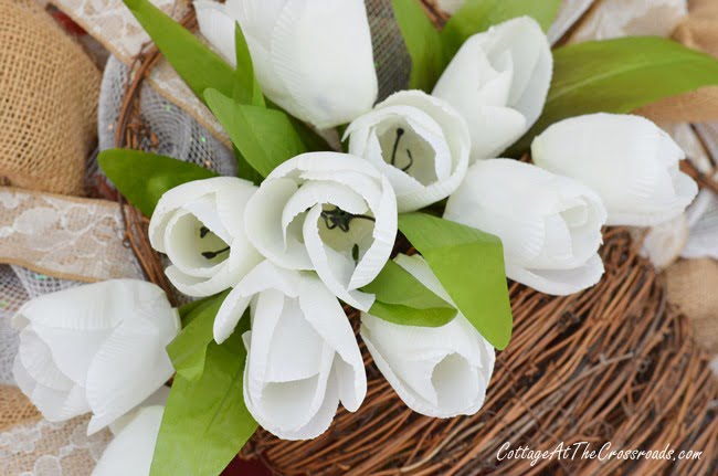 A Neutral Spring Wreath | Cottage at the Crossroads