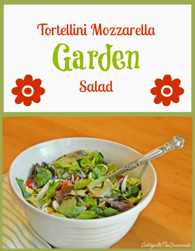 Tortellini Mozzarella Garden Salad | Cottage at the Crossroads