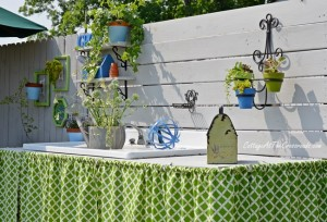 Outdoor Potting Bench Skirt