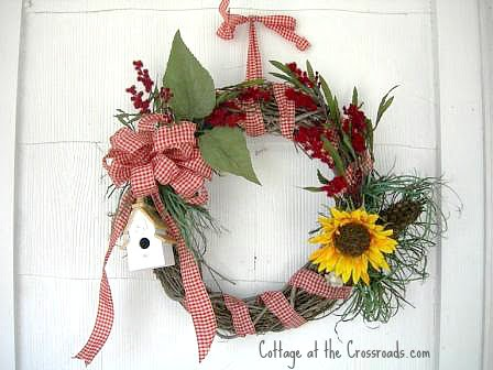 summer wreath | Cottage at the Crossroads