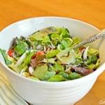 tortellini mozzarella garden salad