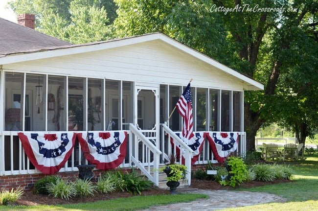 Patriotic Fans | Cottage at the Crossroads