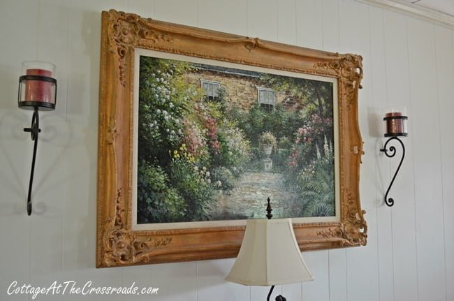 garden painting | Cottage at the Crossroads