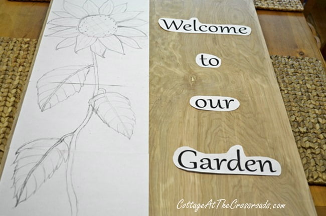 wooden garden sign | Cottage at the Crossroads