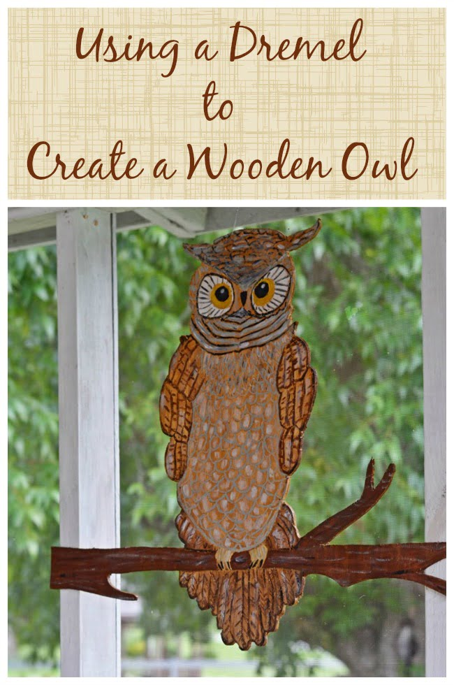 Using a Dremel to Create a Wooden Owl | Cottage at the Crossroads