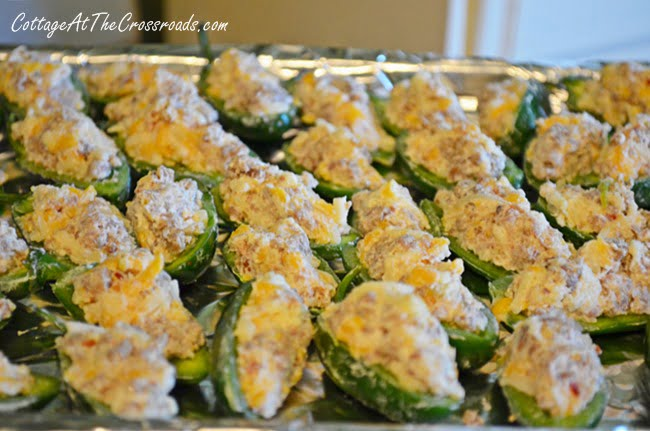 Sausage and Cheese Stuffed Jalapeno Peppers