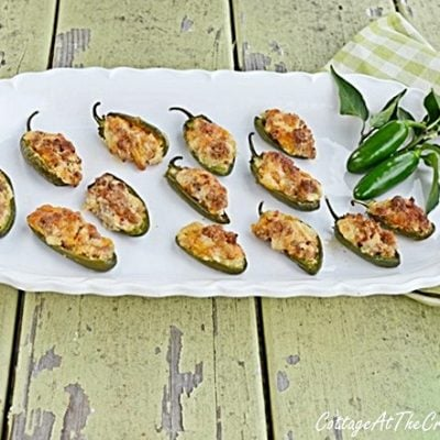 Sausage and Cheese Stuffed Jalapeno Peppers | Cottage at the Crossroads