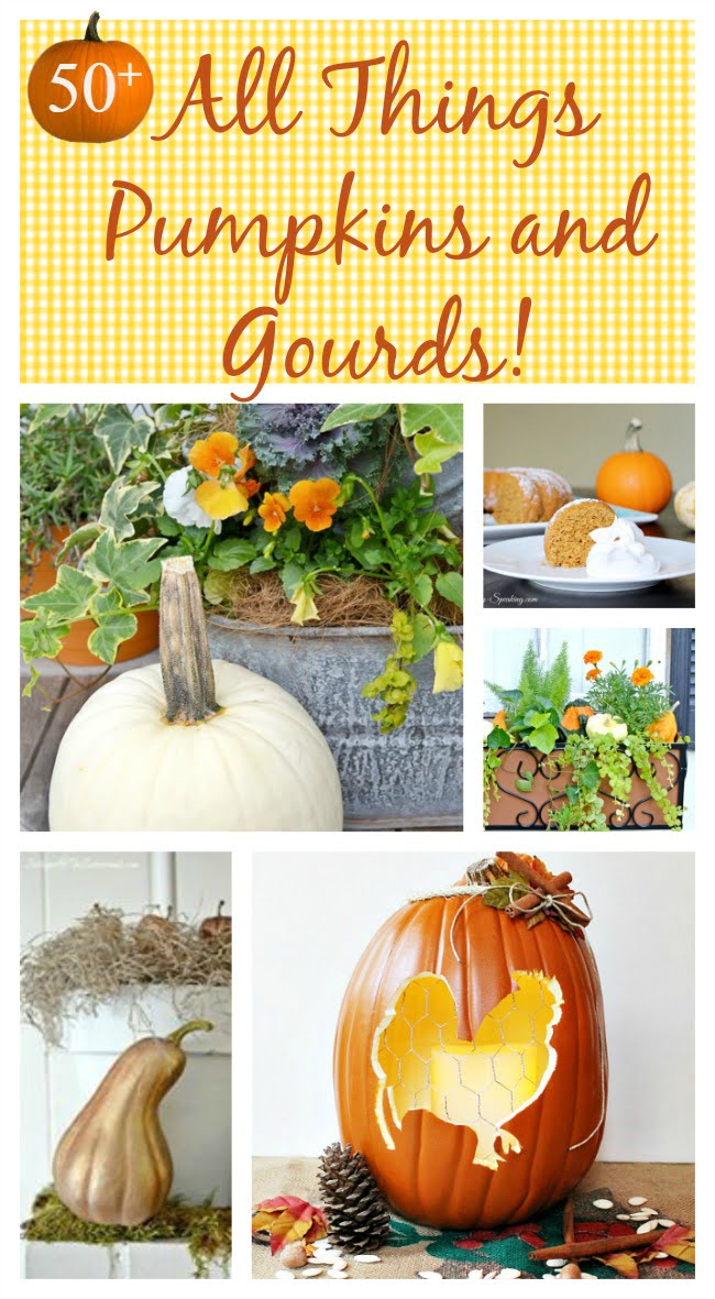 Over 50 decorating ideas, recipes, and crafts involving pumpkins and gourds | Cottage at the Crossroads
