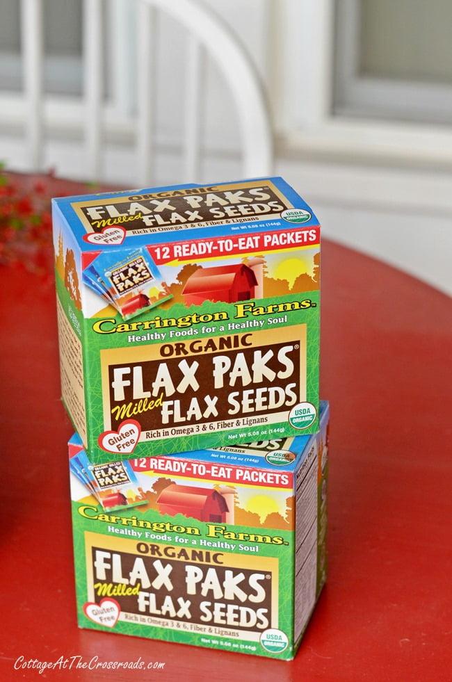 Flax paks from Carrington Farms