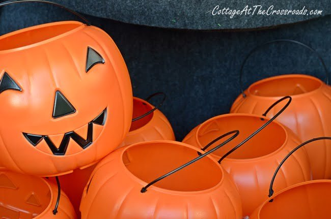 trick-or-treating pails