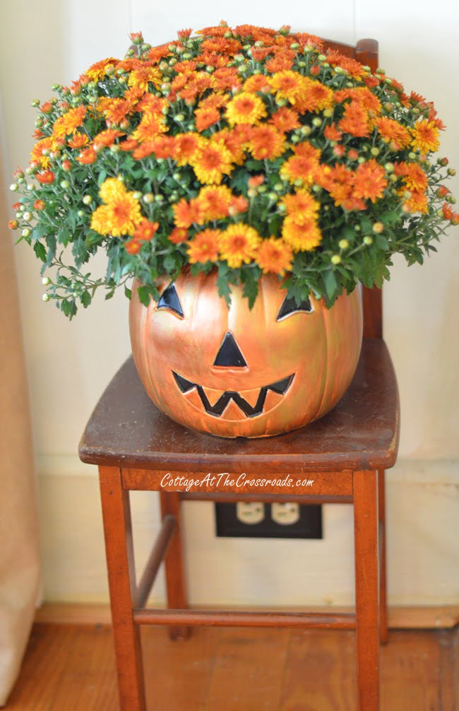 painted plastic Jack-O'-Lantern | Cottage at the Crossroads