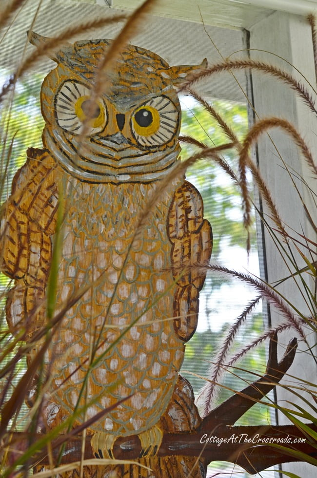wooden owl made with a Dremel | Cottage at the Crossroads