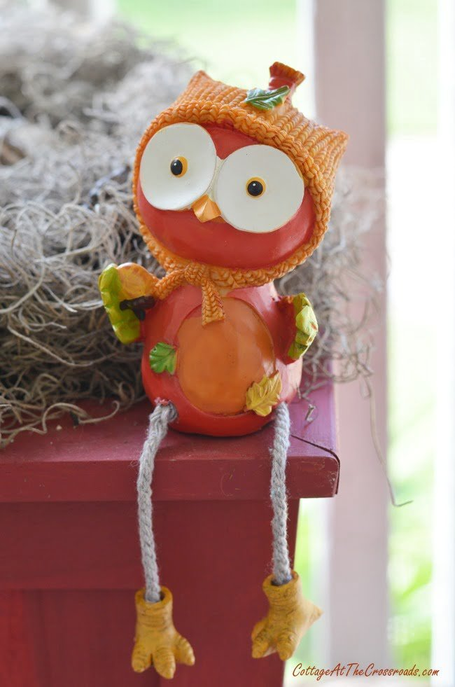 cute owl from the dollar store | Cottage at the Crossroads