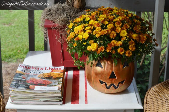 painted Jack-O'-Lantern | Cottage at the Crossroads