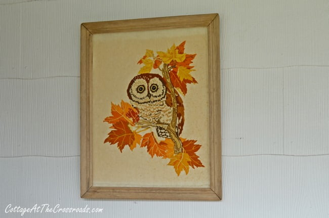 vintage owl needlework | Cottage at the Crossroads