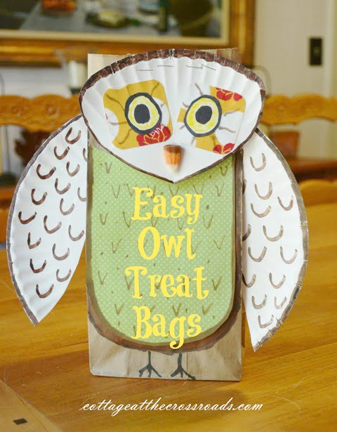 Owl Treat Bags | Cottage at the Crossroads