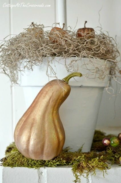 painted cheap plastic gourd | Cottage at the Crossroads