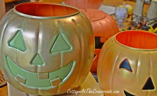 painted trick-or-treat pails