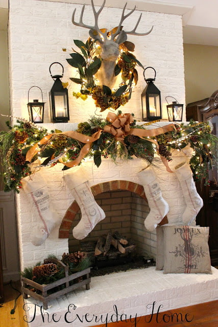 Christmas mantel from The Everyday Home blog