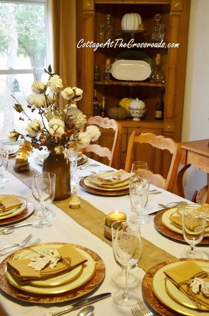 Thanksgiving tablescape | Cottage at the Crossroads