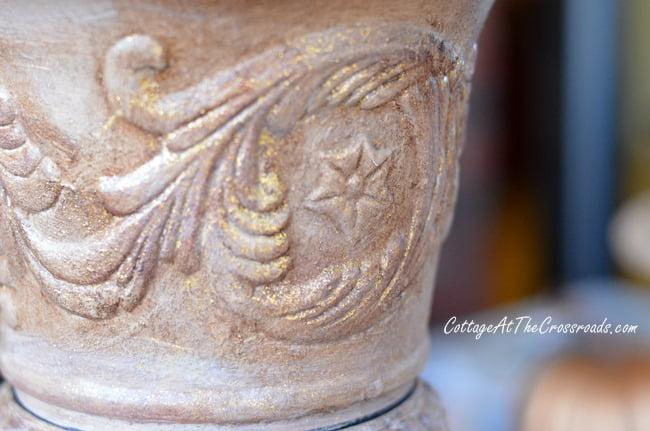 painted plastic urns