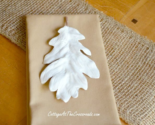 how to make plaster leaves | Cottage at the Crossroads