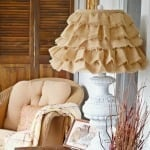 ruffled burlap shade