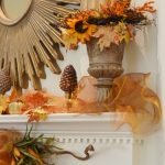 Painted Urns on the Fall Mantel