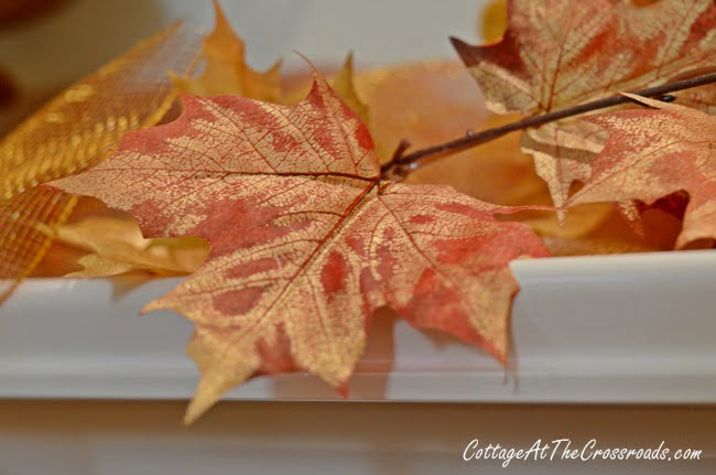 Painted Urns on the Fall Mantel | Cottage at the Crossroads