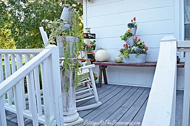 fall deck | Cottage at the Crossroads
