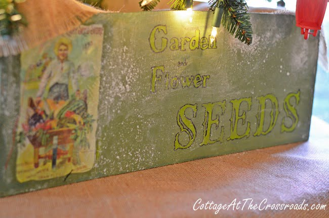 Seed Box Christmas Tree Stand Cover | Cottage at the Crossroads