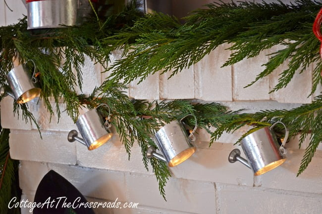 watering can garland | Cottage at the Crossroads