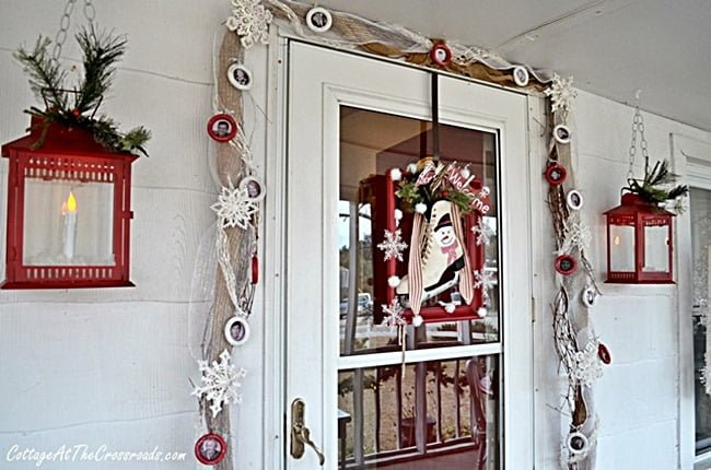 Christmas wreath and garland | Cottage at the Crossroads